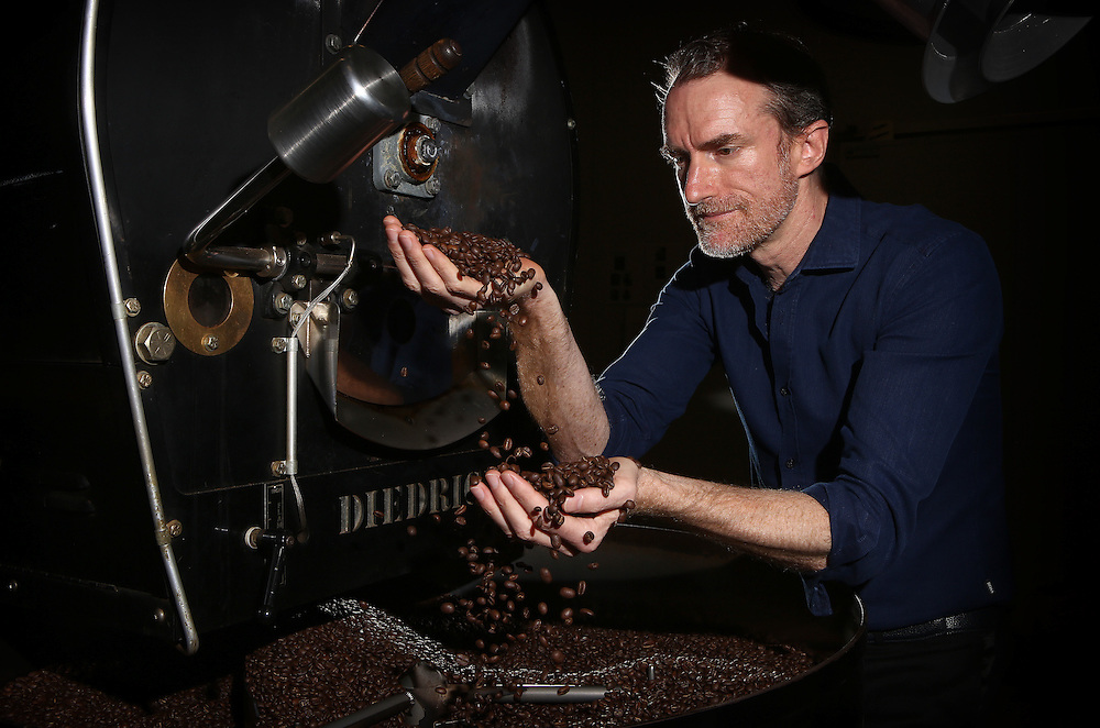 CEO of Campos Coffee, Will Young, at the Campos HQ in Banksmeadow NSW.