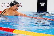 RIO DE JANEIRO - Ranomi Kromowidjojo tijdens de halve finales van de 100 m vrij in de Olympic Aquatics Stadium op de Olympische Spelen van Rio. ANP ROBIN UTRECHT