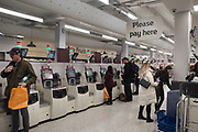 self-service machines, Sainsburys, Tottenham Court Rd. , 29 November 2018
