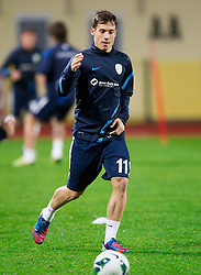Goran Cvijanovic during practice session of Slovenian National football team prior to the friendly match against Former Yugoslav republic of Macedonia on November 12, 2012 in Domzale, Slovenia. (Photo By Vid Ponikvar / Sportida)