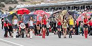 Jul 19 2015 Salinas, CA U.S.A. eni SBK Superbike Girls at the starting line during the eni FIM Superbike World Championship Laguna Sega Salinas, CA  Thurman James / CSM