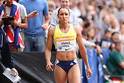 Jessica Ennis-Hill of Great Britain in the 200m during the Sainsbury's Anniversary Games at the Queen Elizabeth II Olympic Park, London, United Kingdom on 25 July 2015. Photo by Phil Duncan.