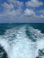 wake from boat in the Caymans