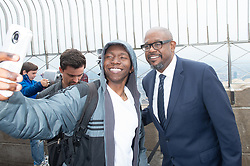 April 27, 2018 - New York, New York, U.S. - Actor FOREST WHITAKER greets fans after he lights the Empire State Building in honor of the Education Above All Foundation in New York. (Credit Image: © Bryan Smith via ZUMA Wire)