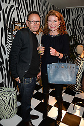 WILL WRIGHT and ERIN MORRIS at the Mother Of Pearl, Polly Morgan & Sunday Times Style Hosted London Fashion Week Pop-Up Shop at The Shop at Bluebird, Kings Road, London on 12th September 2013.