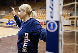 Misa Marincek during practice session of Slovenian Women handball National Team three days before match against Serbia, on October 24, 2013 in Arena Tivoli, Ljubljana, Slovenia. (Photo by Vid Ponikvar / Sportida)