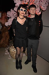 Finn Kemp and Charlotte at the Warner Music Group and British GQ Summer Party in partnership with Quintessentially held at Nobu Shoreditch, Willow StreetLondon England. 5 July 2017.<br /> Photo by Dominic O'Neill/SilverHub 0203 174 1069 sales@silverhubmedia.com