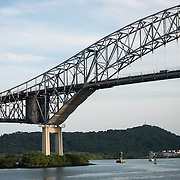 The Bridge of the Americas, one of two bridges spanning the Panama Canal.