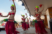 Rarotongan Polynesian, dance troup, Paul Gauguin cruise ship, Cook Islands, South Pacific