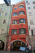 Austria, Innsbruck a building in Herzog-Friedrich Strasse in the historic town