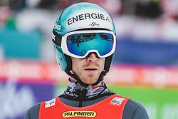 16.02.2020, Kulm, Bad Mitterndorf, AUT, FIS Ski Flug Weltcup, Kulm, Herren, 2. Wertungsdurchgang, im Bild Michael Hayboeck (AUT) // Michael Hayboeck of Austria reacts after his 2nd Competition Jump for the men's FIS Ski Flying World Cup at the Kulm in Bad Mitterndorf, Austria on 2020/02/16. EXPA Pictures © 2020, PhotoCredit: EXPA/ JFK