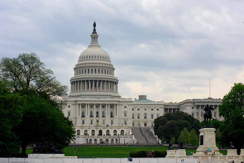 Washington, D.C. - April 29, 2017: The U.S. Capitol Building the morning of the People's Climate Movement in Washington D.C. Saturday April 29, 2017. <br /> <br /> The League of Conservation Voters and Chispa participate in the People's Climate Movement in Washington D.C. Saturday April 29, 2017. <br /> <br /> <br /> CREDIT: Matt Roth for The League of Conservation Voters
