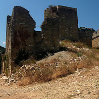 EN&gt; The ruins of the castle at Saint Montan in the Ardeche, France |<br />