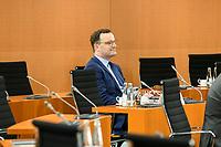 03 JUN 2020, BERLIN/GERMANY:<br /> Jens Spahn, CDU, Bundesgesundheitsminister, vor Beginn einer Kabinettsitzung, zu Umsatzung der Abstandsregeln im Internationalen Konferenzsaal, Bundeskanzleramt<br /> IMAGE: 20200603-01-005<br /> KEYWORDS: Kabinett, Sitzung, Corvid-19, Corona