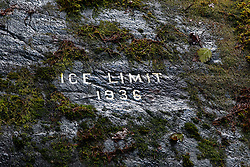 1936 Ice Limit of the Mendenhall Glacier, Mendenhall Valley, Juneau, Alaska, United States of America