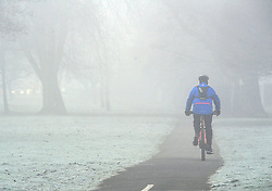 © Licensed to London News Pictures. 28/12/2016<br /> Freezing foggy weather this morning on Sevenoaks Way,Orpington,Kent.<br /> Photo credit :Grant Falvey/LNP