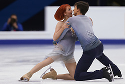 January 20, 2018 - Moscow, Russia - Tiffani Zagorski and Jonathan Guerreiro of Russia perform during an ice dance free dance event at the 2018 ISU European Figure Skating Championships, at Megasport Arena in Moscow, on January 20, 2018. (Credit Image: © Igor Russak/NurPhoto via ZUMA Press)
