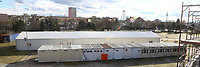 Ludwigshafen. 09.03.17 | BILD- ID 024 |<br /> Messplatz. Seit Oktober 2015 wurden hier Fl&uuml;chtlinge in Notunterk&uuml;nften untergebracht. In Winterfesten Zelten wurden den meist m&auml;nnlichen Fl&uuml;chtlingen eine Unterkunft geboten. <br /> Mittlerweile wurden zwei Zelte und mehrere Container abgebaut.<br /> Bild: Markus Pro&szlig;witz 09MAR17 / masterpress (No Modelrelease!)
