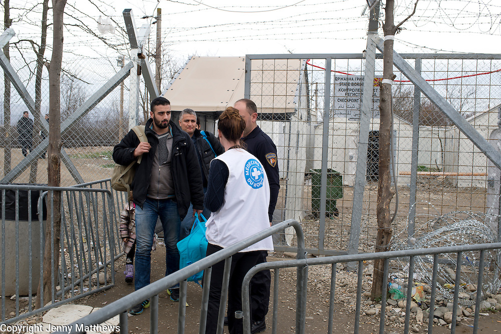Greece with Doctors of the World (Medecins du monde). Idomeni, border crossing Greece and Macedonia (Fyrom). A group of Afghan refugees return from Macedonia - victims of fraud after someone took their papers telling them the train would take them all the way to Germany.