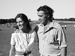 HECTOR & SUSAN BARRANTES she is the mother of <br /> Sarah, Duchess of York, at a polo match in 1976.  HWH 72