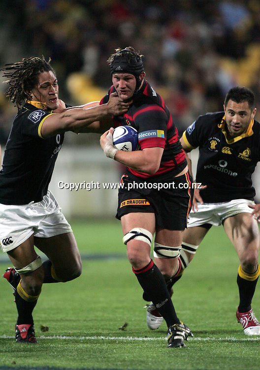 Canterbury's Sam Broomhall in action during the NPC Div 1 Final, Saturday 24 October 2004,Westpac Stadium, Wellington, New Zealand. Canterbury defeated Wellington 40-27.<br />