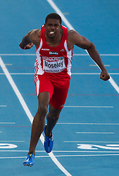 Ryan Moseley of Austria competes in the Men 100m Semifinal during day two of the 20th European Athletics Championships at the Olympic Stadium on July 28, 2010 in Barcelona, Spain. (Photo by Vid Ponikvar / Sportida)