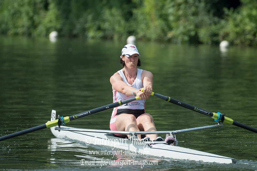 Henley Royal Regatta, Henley on Thames, Oxfordshire, 3-7 July 2013.  Saturday  10:30:21   06/07/2013  [Mandatory Credit/Intersport Images]<br /> <br /> Rowing, Henley Reach, Henley Royal Regatta.<br /> <br /> The Princess Royal Challenge Cup<br /> D.K. Flood (Leander Club)