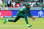 Babar Azam of Pakistan drops a catch from Mohammad Mahmudullah Riyad of Bangladesh during the ICC Cricket World Cup 2019 match between Pakistan and Bangladesh at Lord's Cricket Ground, St John's Wood, United Kingdom on 5 July 2019.