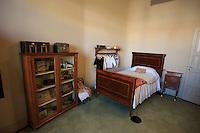 A bedroom display inside the Casa Mila in central Barcelona, Spain