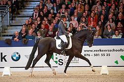 Spierings Marielle, NED, Jones<br /> KWPN Stallionshow - 's Hertogenbosch 2018<br /> © Hippo Foto - Dirk Caremans<br /> 02/02/2018