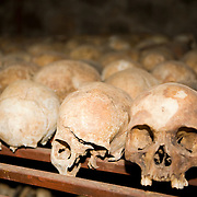 Broken skulls of Nyamata Church massacre victims