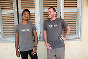 ICS team leaders Thai Long Phlai and Ross McCaffrey. Banteay Char, near Battambang, Cambodia.