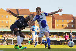 Tony Craig of Bristol Rovers battles with Theo Robinson of Southend United - Mandatory by-line: Richard Calver/JMP - 05/05/2018 - FOOTBALL - Roots Hall - Southend-on-Sea, England - Southend United v Bristol Rovers - Sky Bet League One