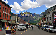 Best lemonade stand location in town, on Colorado Avenue, 40th Telluride Film Festival, 2013.
