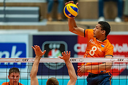 12-06-2019 NED: Golden League Netherlands - Estonia, Hoogeveen<br /> Fifth match poule B - The Netherlands win 3-0 from Estonia in the series of the group stage in the Golden European League / Fabian Plak #8 of Netherlands