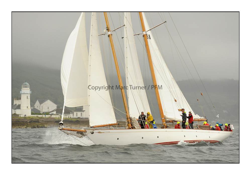 Day two of the Fife Regatta,Passage race to Rothesay.<br /> <br /> Astor, Richard Straman, USA, Schooner, Wm Fife 3rd, 1923<br /> <br /> * The William Fife designed Yachts return to the birthplace of these historic yachts, the Scotland&rsquo;s pre-eminent yacht designer and builder for the 4th Fife Regatta on the Clyde 28th June&ndash;5th July 2013<br /> <br /> More information is available on the website: www.fiferegatta.com