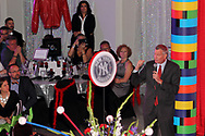 New York City mayor Bill de Blasio makes a surprise appearance at the Equitas Health RED Table Design Gala at the Masonic Center in Dayton, Saturday, October 15, 2016.  Mayor de Blasio was in town for another event, and called Dayton mayor Nan Whaley at the gala, and invited him to stop by.