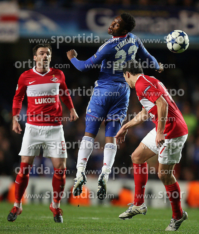 03.11.2010, Stamford Bridge, London, ENG, ENG, UEFA CL, Chelsea FC vs Spartak Moscow, im Bild Daniel Sturridge of Chelsea  with SPARTAK MOSCOW'S Marek Suchy  and  SPARTAK MOSCOW'S Nikola Drincic, EXPA Pictures © 2010, PhotoCredit: EXPA/ IPS/ M. Pozzetti *** ATTENTION *** UK AND FRANCE OUT!