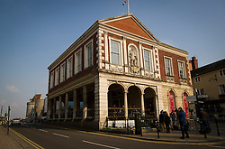 © London News Pictures. 28/03/2013 . Windsor, UK.  General view of The Guild Hall in Windsor, Berkshire which houses the Windsor Coroner's Court, where the opening of an inquest into the death of Russian oligarch Boris Berezovsky took place today (28/03/2013). Boris Berezovsky was found lying on a bathroom floor of his home in Ascot, Berkshire with a ligature around his neck.Photo credit : Ben Cawthra/LNP