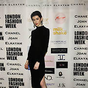 Designer Chanel Joan Elkayam herself The British luxury Womenswear designer, Chanel Joan Elkayam, showcases her Autumn - Winter 2020 show ahead of London Fashion Week on 13 February 2020 at Cecil Sharp House, London, UK.
