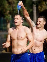 "Uros Zorman and Luka Zvizej during Handball Summer Camp named ""Rokometni tabor Urosa Zormana 2013"" on June 29, 2013 in Savudrija, Croatia. (Photo by Vid Ponikvar / Sportida.com)"