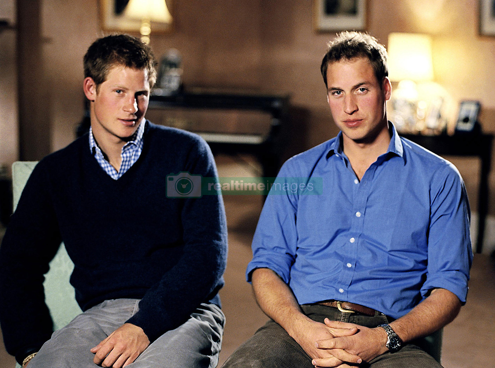 Prince Harry (left) and Prince William announcing a pop concert and memorial service is to be held next year to mark the 10th anniversary of Diana, Princess of Wales's death.