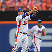 NEW YORK, NEW YORK - July 10: Asdrubal Cabrera #13 of the New York Mets makes the out of Bryce Harper #34 of the Washington Nationals with a catch during the Washington Nationals Vs New York Mets regular season MLB game at Citi Field on July 10, 2016 in New York City. (Photo by Tim Clayton/Corbis via Getty Images)