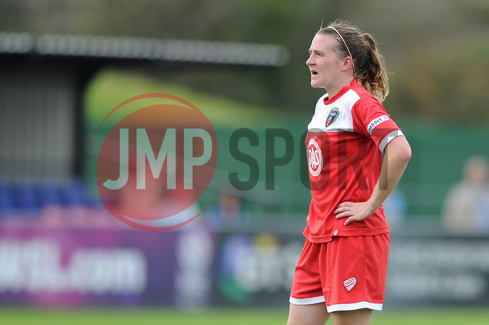 Bristol Academy Womens' Loren Dykes - Photo mandatory by-line: Dougie Allward/JMP - Mobile: 07966 386802 - 28/09/2014 - SPORT - Women's Football - Bristol - SGS Wise Campus - Bristol Academy Women's v Manchester City Women's - Women's Super League