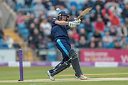 First four of the day by Adam Lyth (Yorkshire Vikings) during the Royal London 1 Day Cup match between Yorkshire County Cricket Club and Lancashire County Cricket Club at Headingley Stadium, Headingley, United Kingdom on 1 May 2017. Photo by Mark P Doherty.