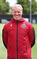 KNOKKE-HEIST, BELGIUM - JULY 10: Pascal Plovie, kit man of Club Brugge, during the 2019 - 2020 season photo shoot of Club Brugge on July 10, 2019 in Knokke-Heist, Belgium. (Photo by Vincent Van Doornick/Isosport)