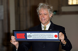 Bob Geldof receives Freedom of the City of London. <br /> Bob Geldof receives Freedom of the City of London at The Guidhall. The honour is in recognition of his services to music and outstanding contribution to international social justice and peace, London, United Kingdom. Monday, 16th September 2013. Picture by Chris Joseph / i-Images