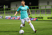Forest Green Rovers Ben Morris(22) on the ball during the EFL Trophy match between Forest Green Rovers and Cheltenham Town at the New Lawn, Forest Green, United Kingdom on 4 September 2018.
