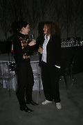Laura Cadenazzi and Stephanie Theobalds. Almeida 25th Anniversay Gala. Gagosian Gallery, Brittania St. Kings Cross. London. 27 January 2005. ONE TIME USE ONLY - DO NOT ARCHIVE  © Copyright Photograph by Dafydd Jones 66 Stockwell Park Rd. London SW9 0DA Tel 020 7733 0108 www.dafjones.com