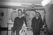 Swedish king Carl Gustaf visited Dublin in April 1967. He was then crown prince and a sailor on board the ship Älvsnabben that docked in Dublin a few days. He was invited to the Aras an Uaechterain by your then president Eamonn de Valera.